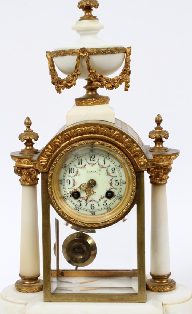 L. MARTI FRENCH EMPIRE MANTEL CLOCK 19TH.C. - 2