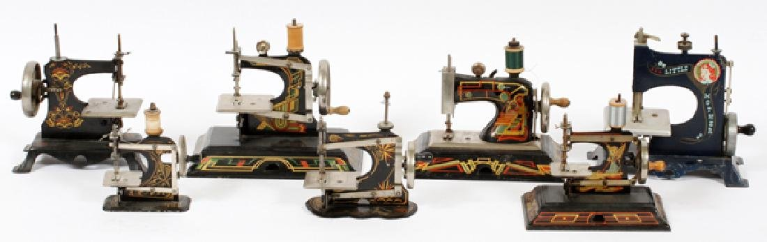 ANTIQUE GERMAN TOY SEWING MACHINES SEVEN