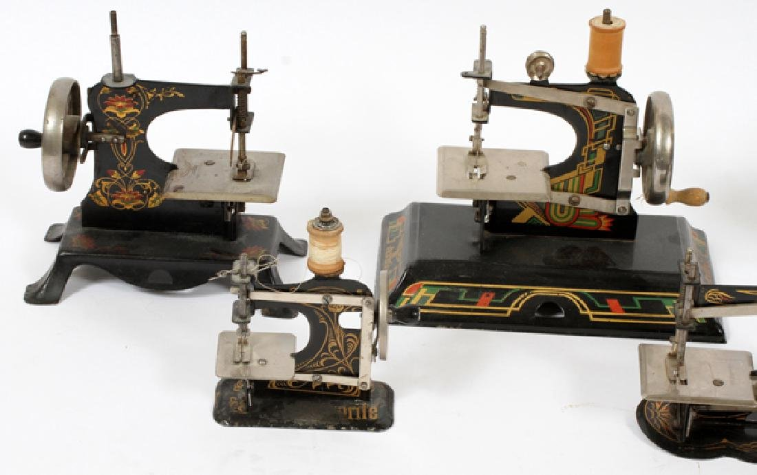 ANTIQUE GERMAN TOY SEWING MACHINES SEVEN - 2