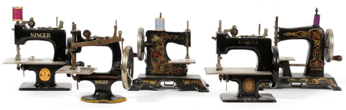 ANTIQUE GERMAN AND SINGER TOY SEWING MACHINES FIVE