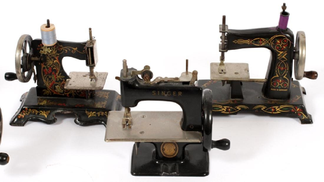 ANTIQUE GERMAN AND SINGER TOY SEWING MACHINES FIVE - 2