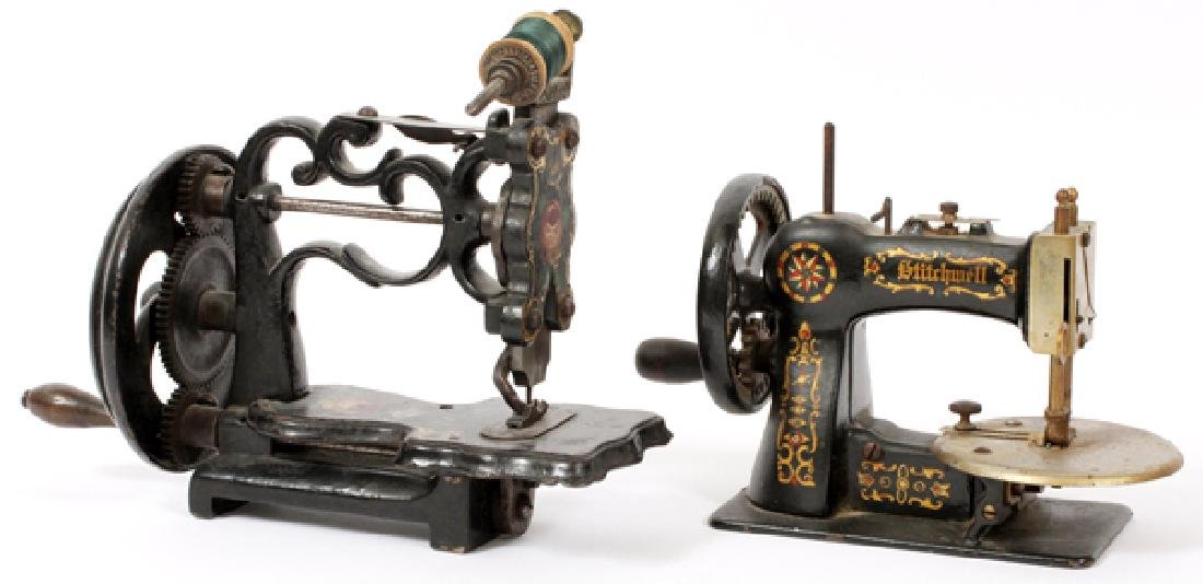 STITCHWELL & OTHER CAST IRON TOY SEWING MACHINES
