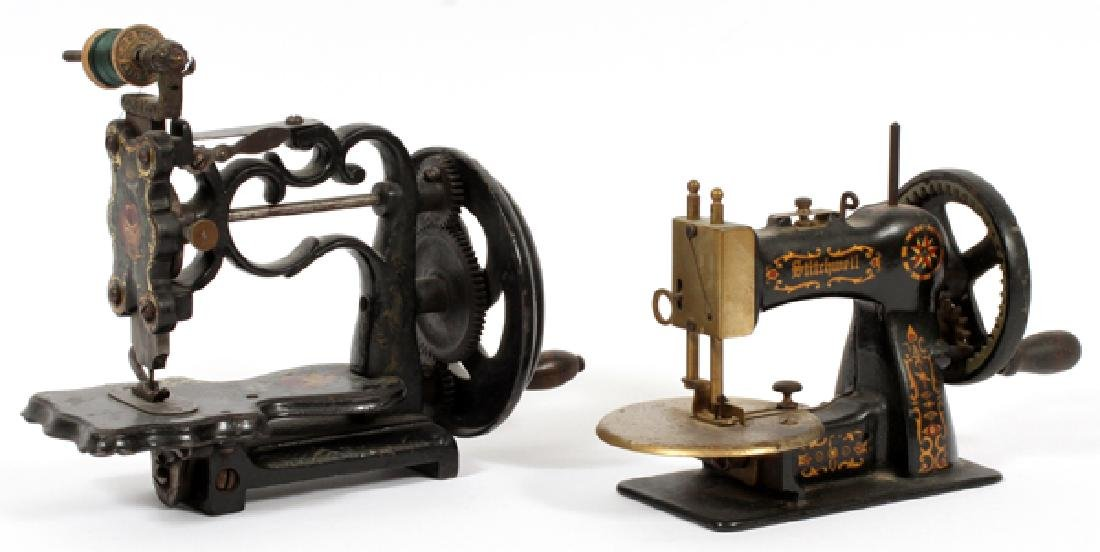 STITCHWELL & OTHER CAST IRON TOY SEWING MACHINES - 2