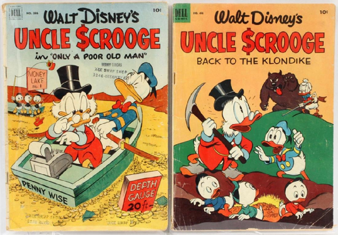 WALT DISNEY UNCLE SCROOGE COMIC BOOKS 2 ITEMS