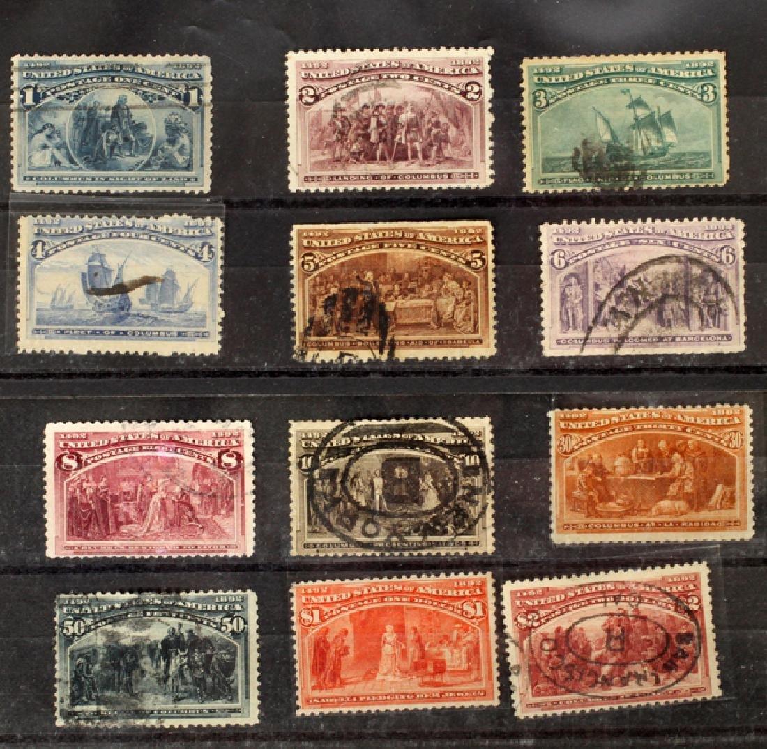 U.S. SCOTT #230-242 COLUMBIAN EXPOSITION STAMPS