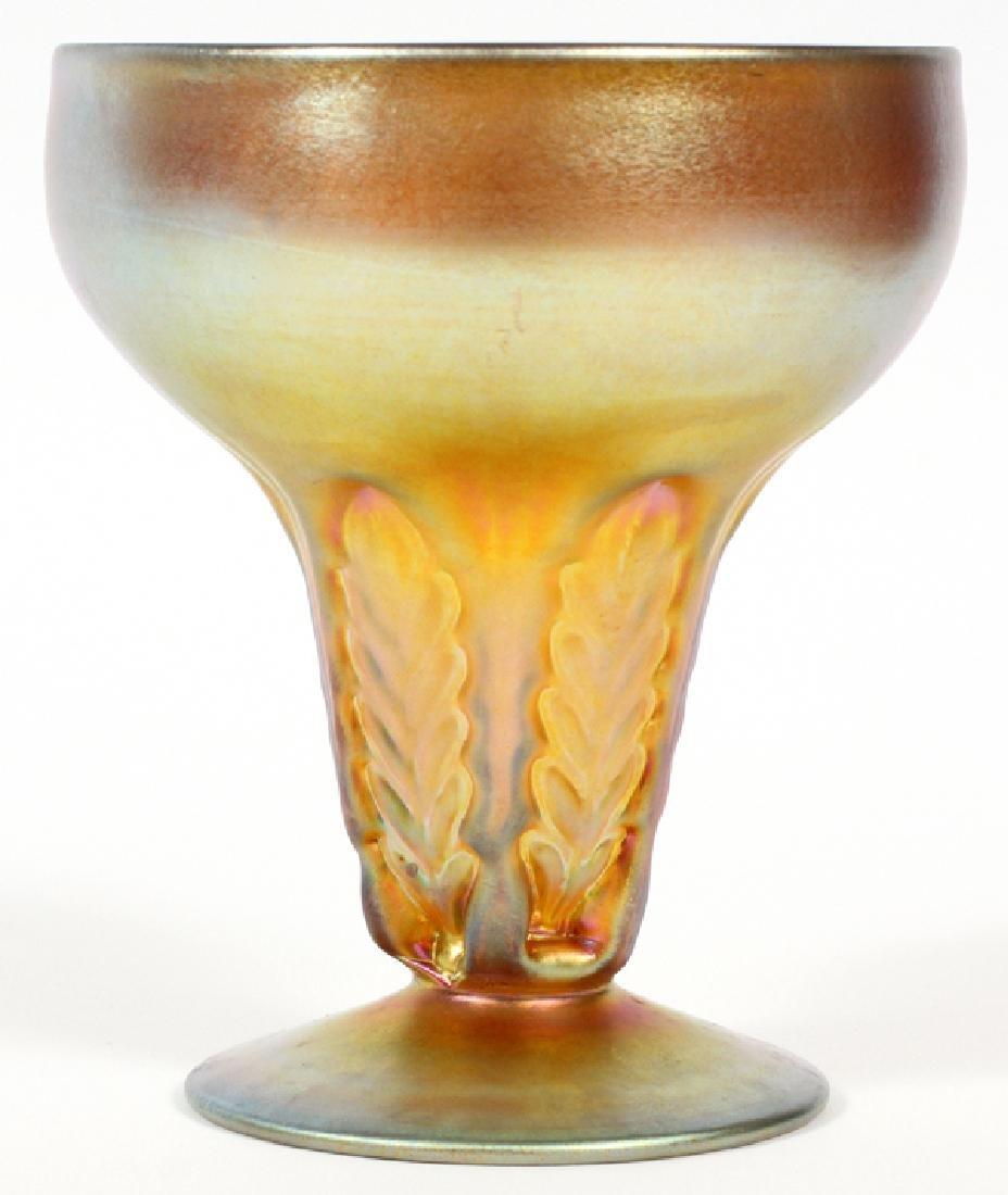 NASH IRIDESCENT GLASS VASE CIRCA 1928