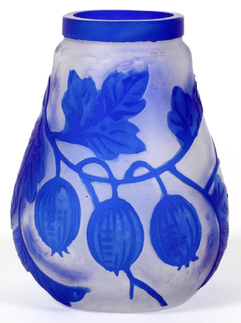 THOMAS WEBB & SONS CAMEO GLASS VASE C. 1880-1910