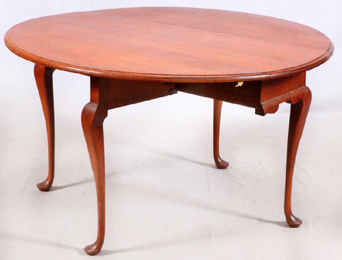 QUEEN ANNE CHERRY ANTIQUE BREAKFAST TABLE - 2