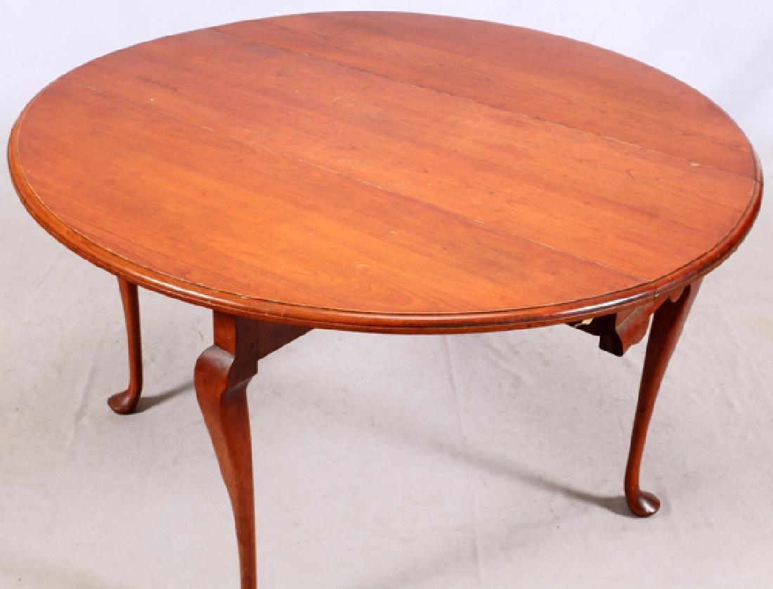 QUEEN ANNE CHERRY ANTIQUE BREAKFAST TABLE - 3