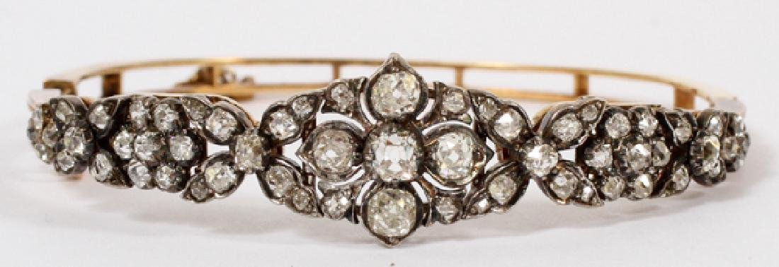 ENGLISH VICTORIAN DIAMOND 14 KT. GOLD BRACELET