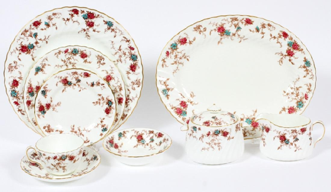 MINTON 'ANCESTRAL' PORCELAIN DINNER SERVICE FOR 12