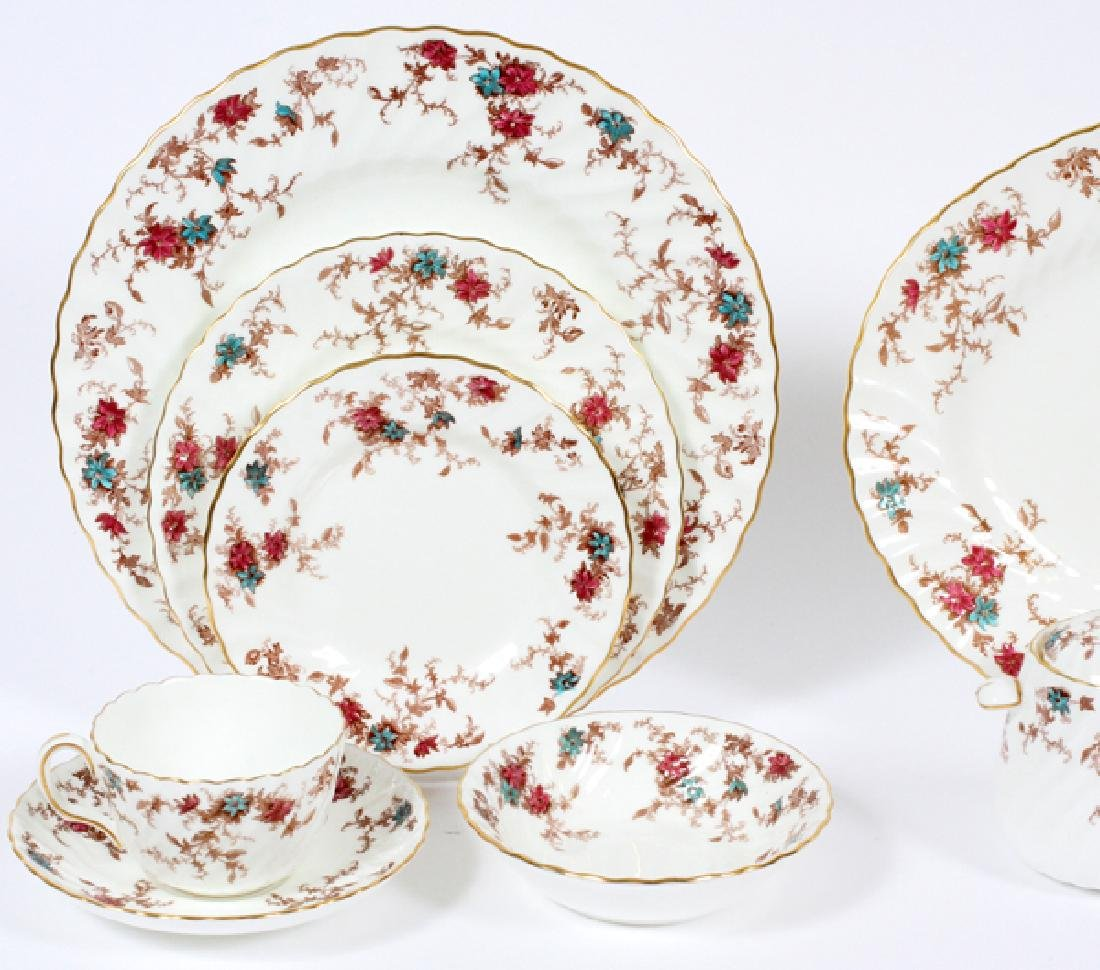 MINTON 'ANCESTRAL' PORCELAIN DINNER SERVICE FOR 12 - 2