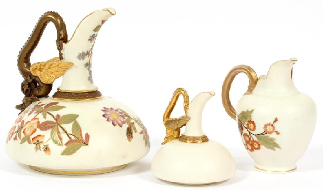 ROYAL WORCESTER BISQUE PITCHERS THREE - 2