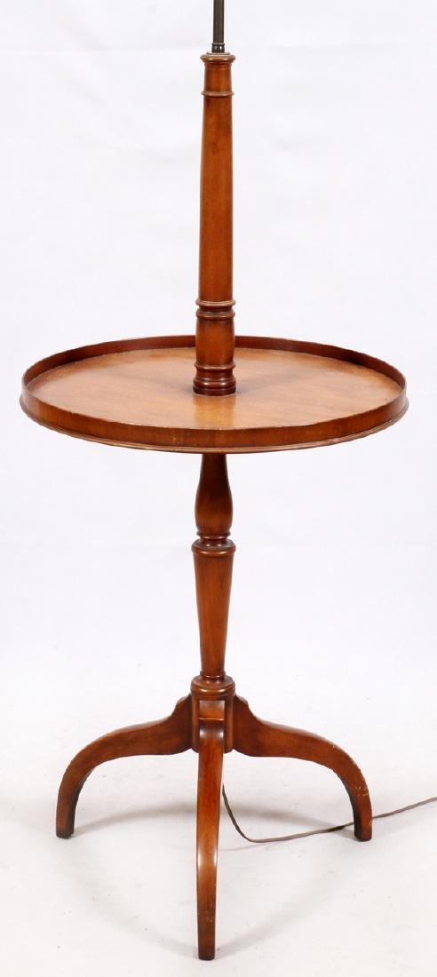 MAHOGANY TABLE-FLOOR LAMP
