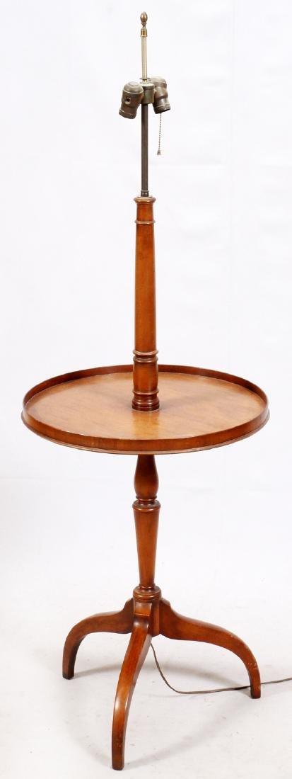 MAHOGANY TABLE-FLOOR LAMP - 2