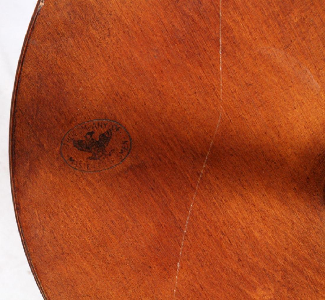 MAHOGANY TABLE-FLOOR LAMP - 3