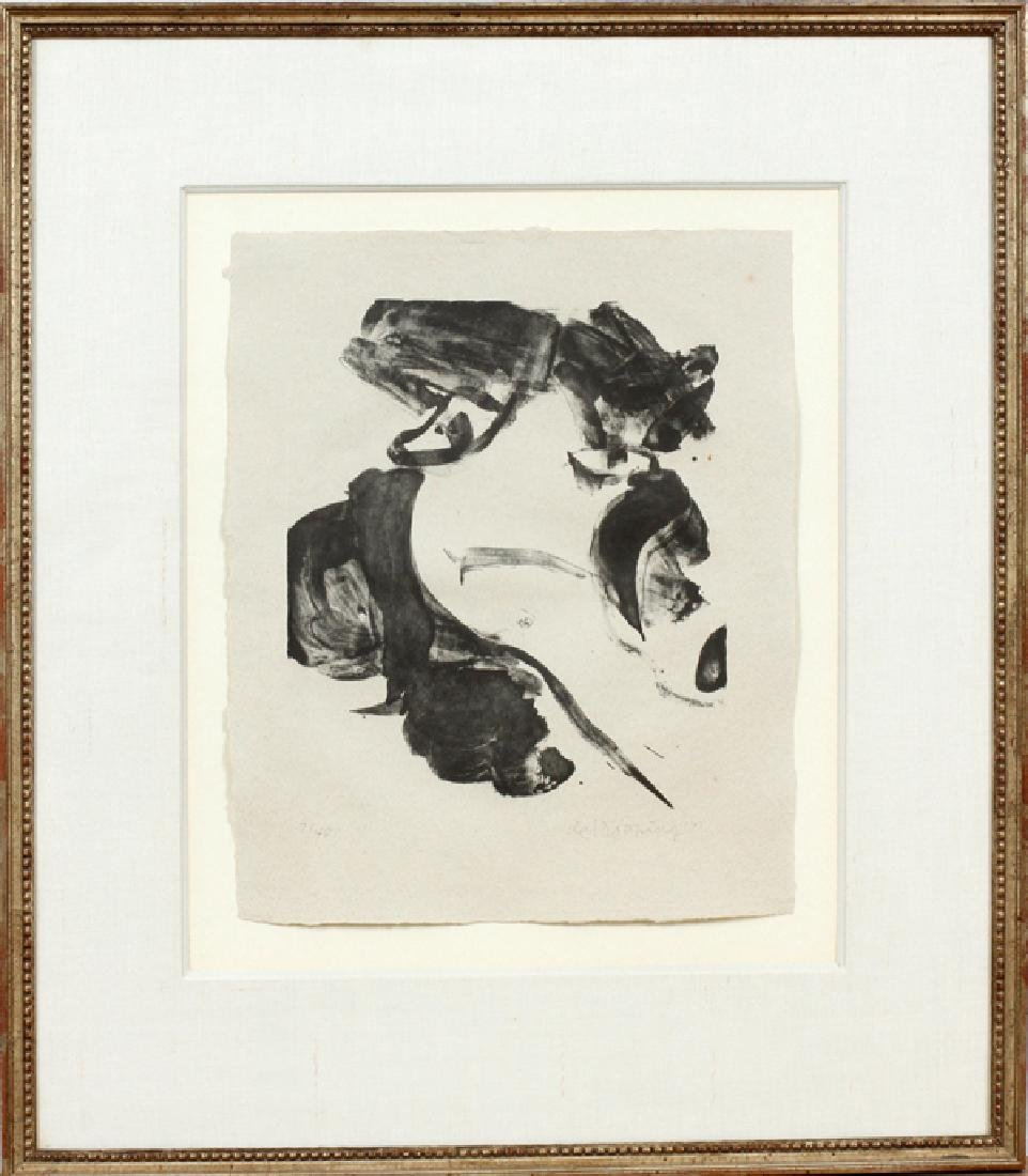 WILLEM DE KOONING LITHOGRAPH ON WOVE PAPER 1971