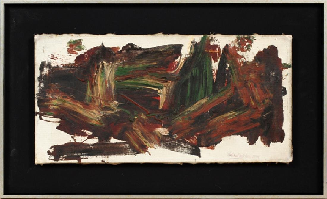 CORINNE MICHELLE WEST OIL ON CANVAS 1964