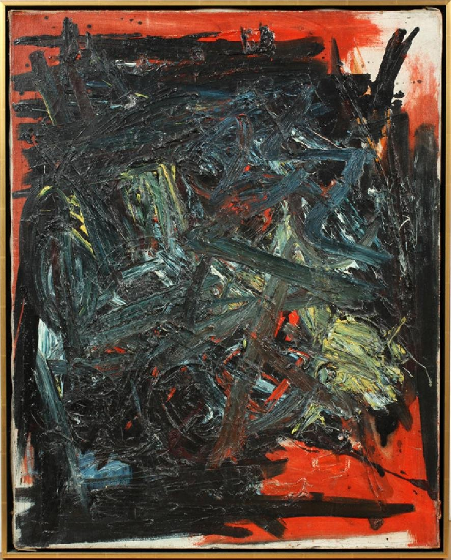 CORINNE MICHELLE WEST OIL ON CANVAS 1959