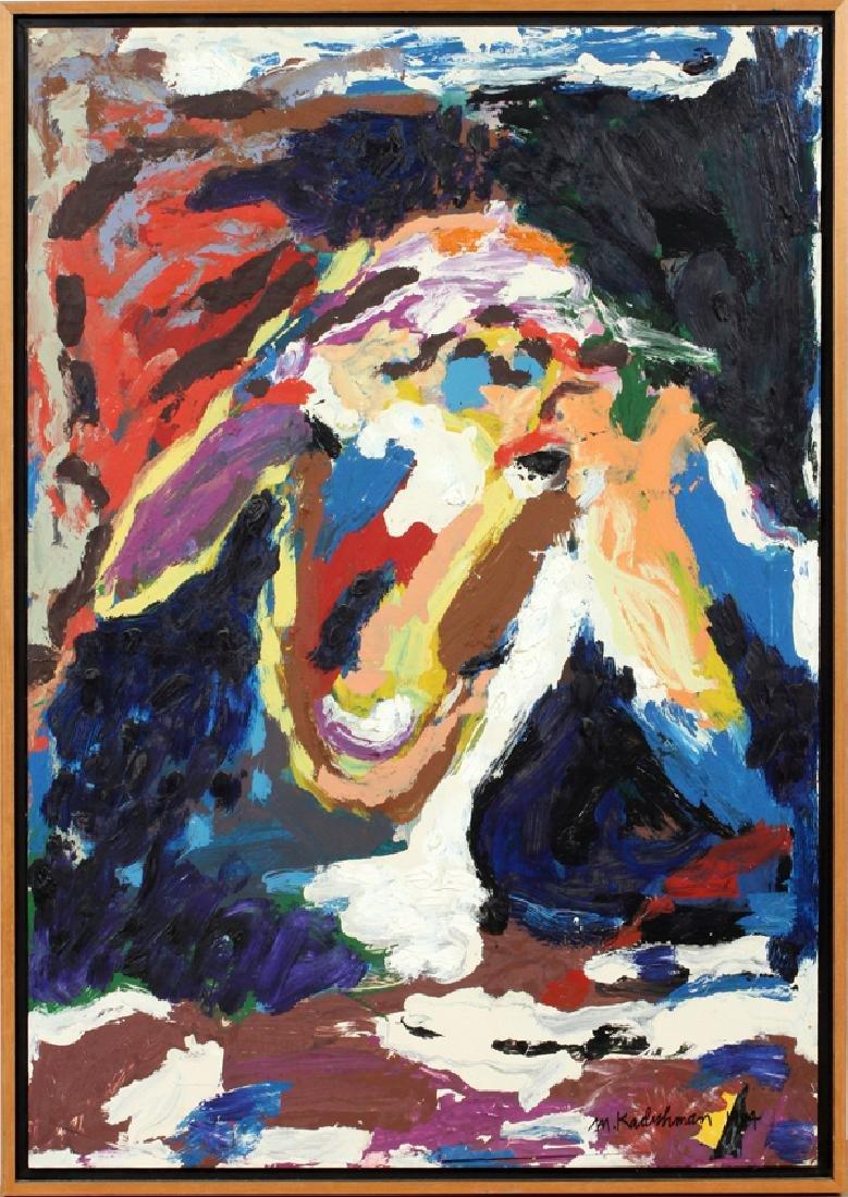 MENASHE KADISHMAN OIL ON PAPER 1984
