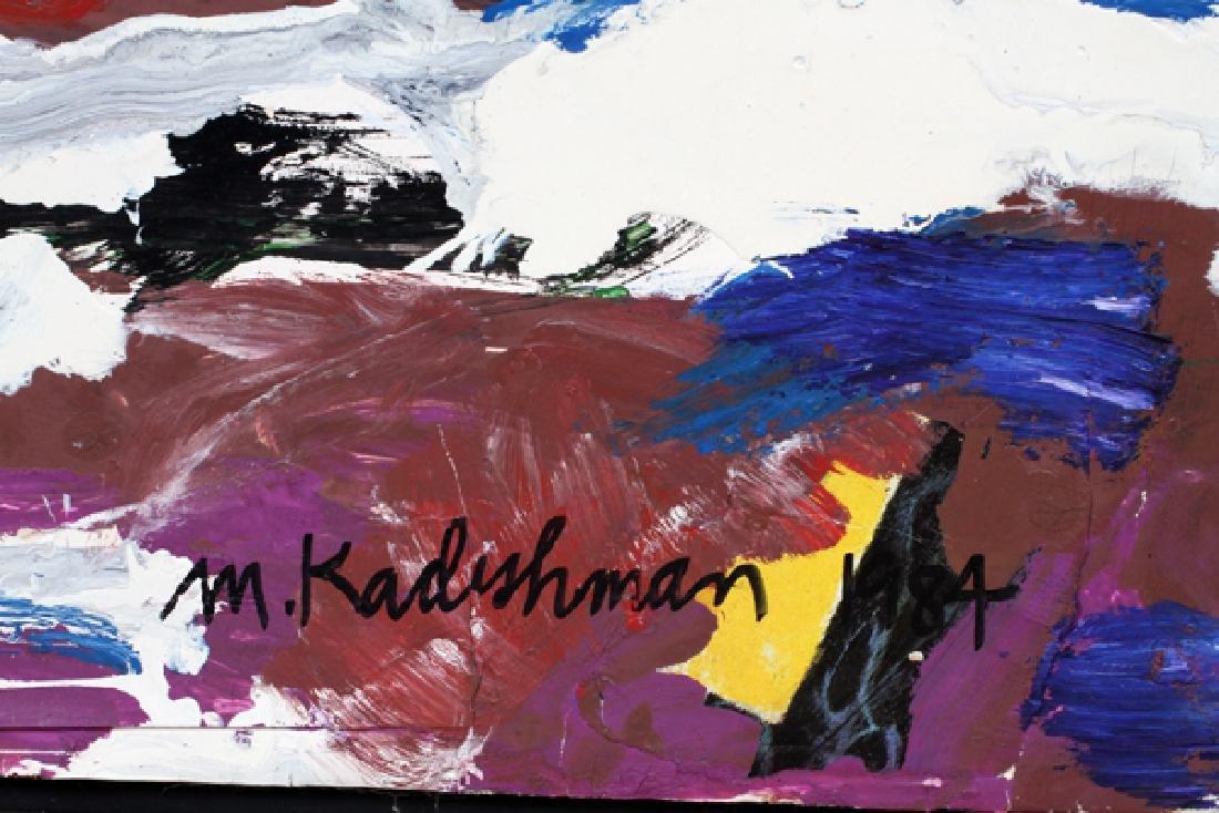 MENASHE KADISHMAN OIL ON PAPER 1984 - 3