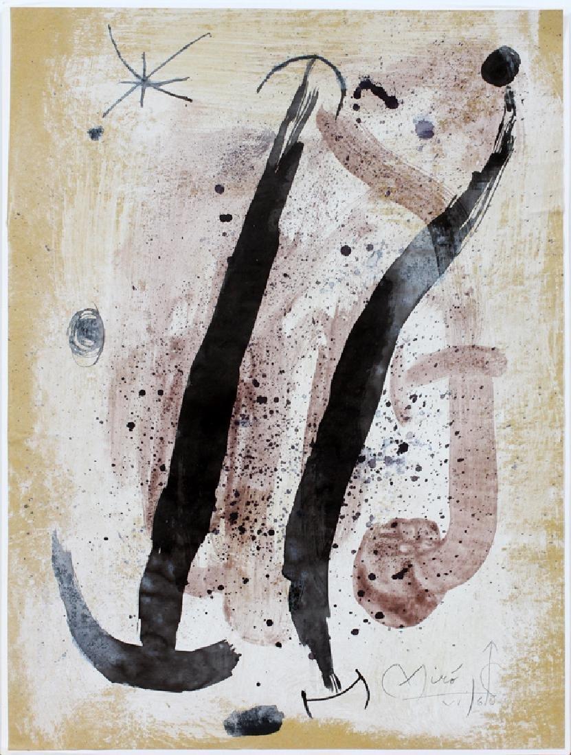 JOAN MIRO MIXED MEDIA ON PAPER VI/1960