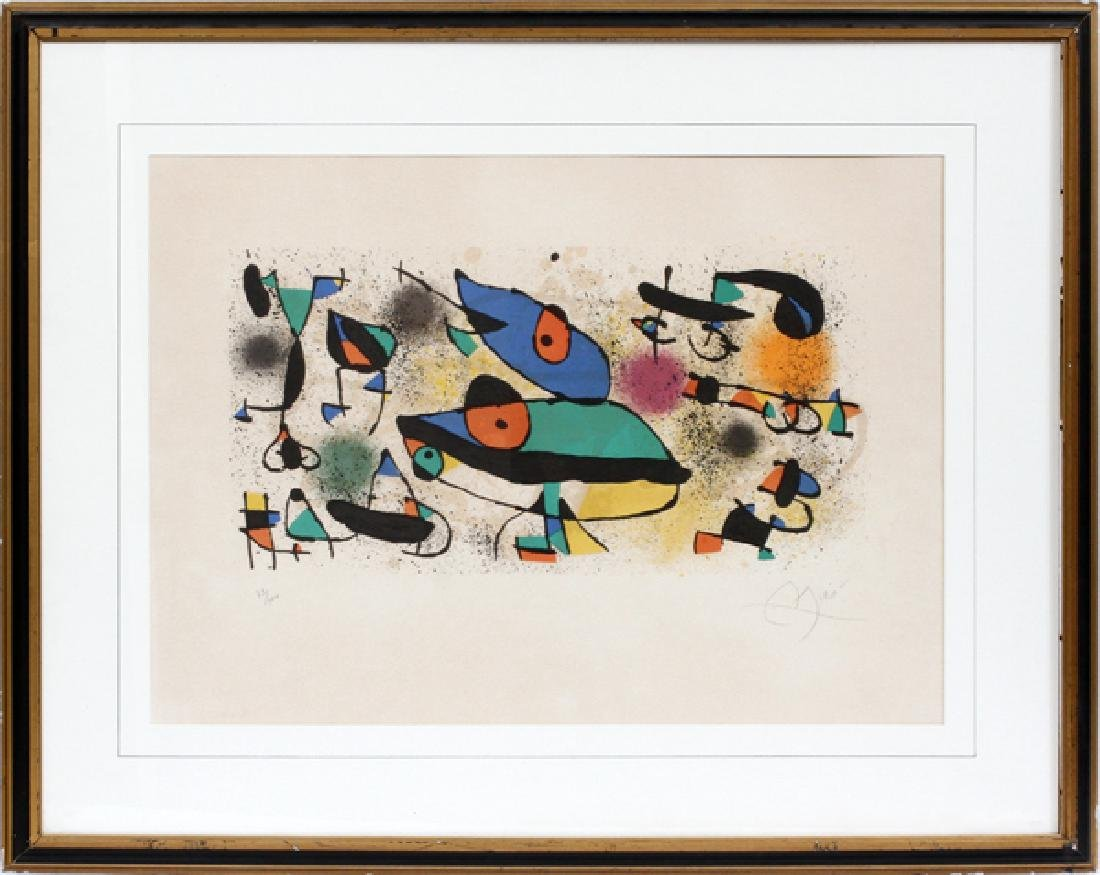 JOAN MIRO COLOR LITHOGRAPH 1974