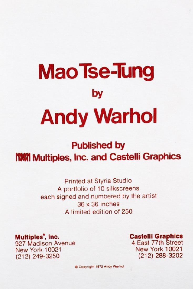 ANDY WARHOL OFFSET LITHOGRAPH 1972 - 10