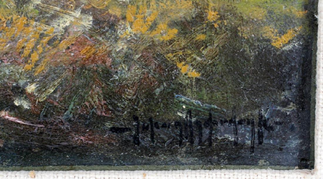 JULIAN ONDERDONK OIL ON WOOD PANEL 1908 - 2