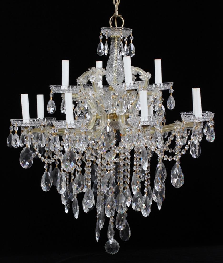 STRAUSS MARIE THERESE STYLE CRYSTAL CHANDELIER
