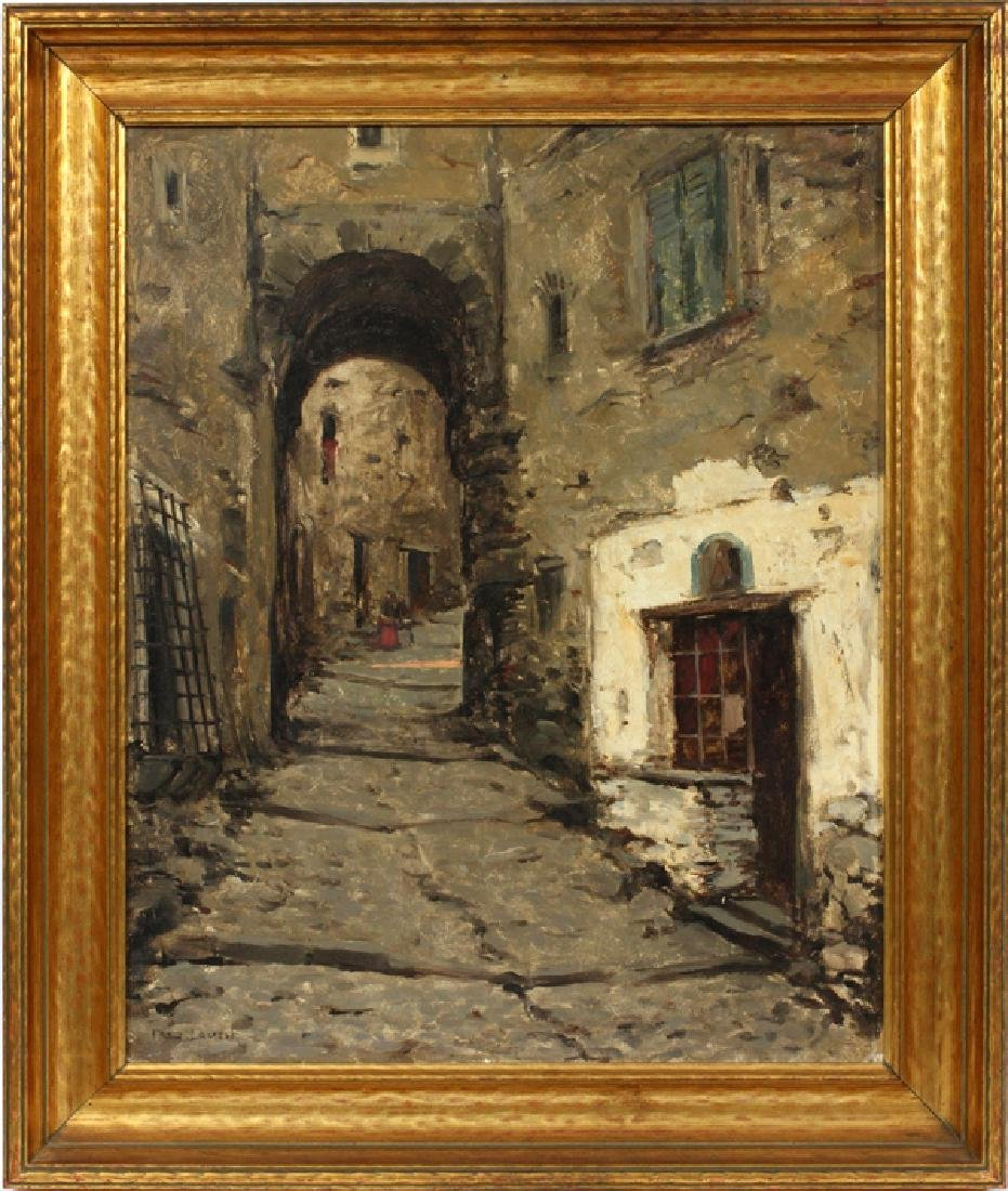 FREDERIC LAUTH OIL ON BOARD
