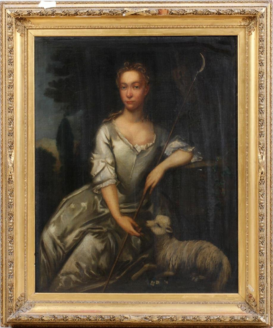 ATTRIBUTED. TO CHARLES JERVAS OIL ON CANVAS