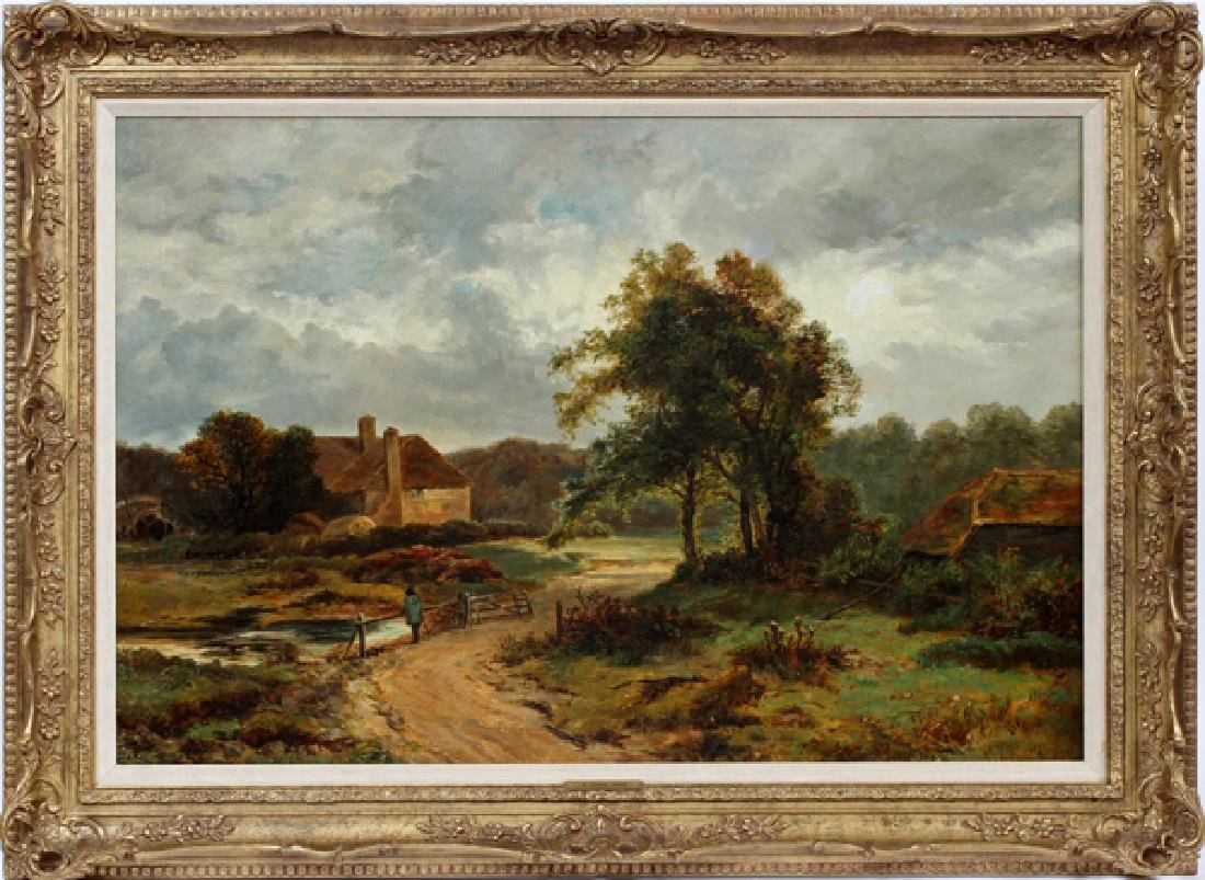 A. GIBBS OIL ON CANVAS 1888