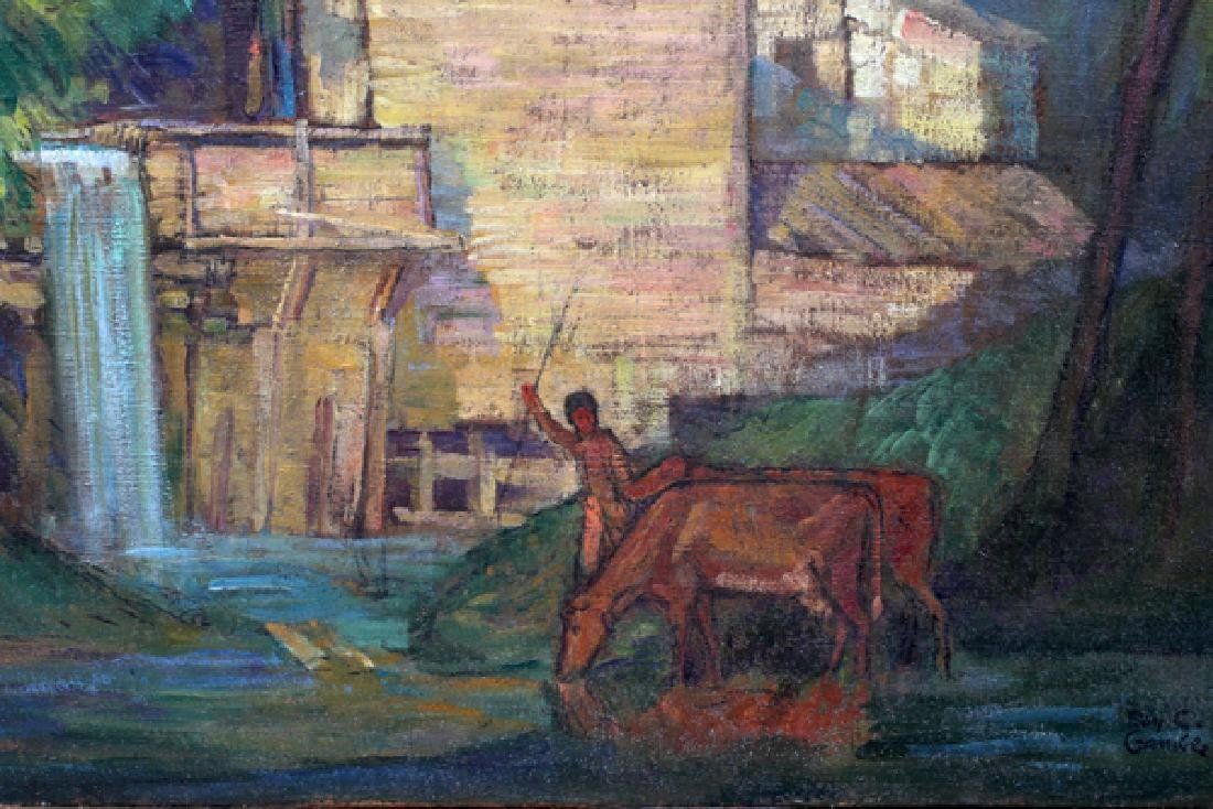 ROY GAMBLE OIL ON CANVAS - 2