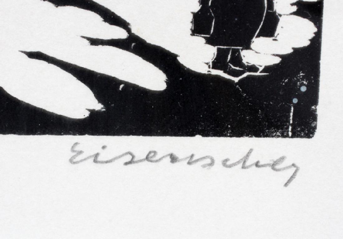 EISENBERG WOODCUT ON PAPER - 3