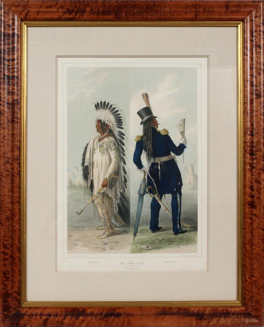 GEORGE CATLIN HAND COLORED LITHOGRAPH BY MC. GAHEY