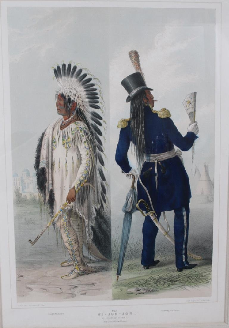 GEORGE CATLIN HAND COLORED LITHOGRAPH BY MC. GAHEY - 2