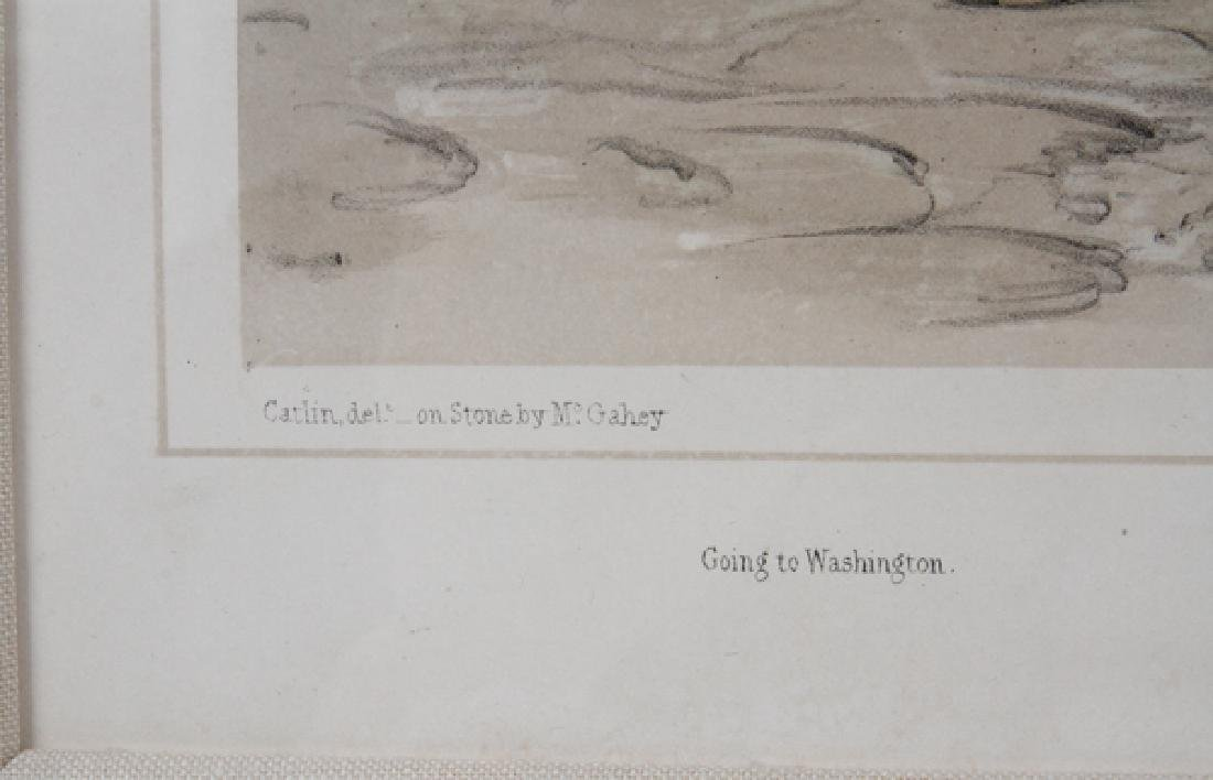 GEORGE CATLIN HAND COLORED LITHOGRAPH BY MC. GAHEY - 3