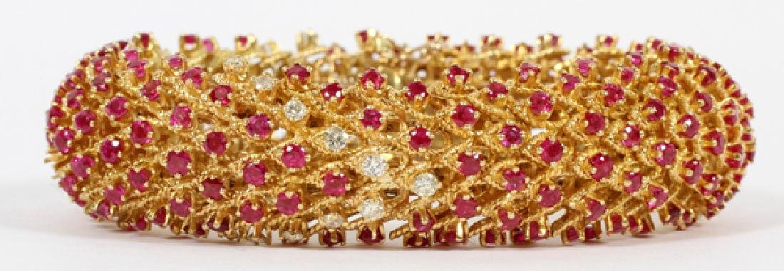VICTORIAN 10CT RUBY AND 1CT DIAMOND BRACELET