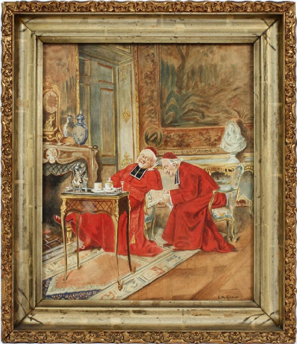 E. M. HILLMAN WATERCOLOR ON PAPER