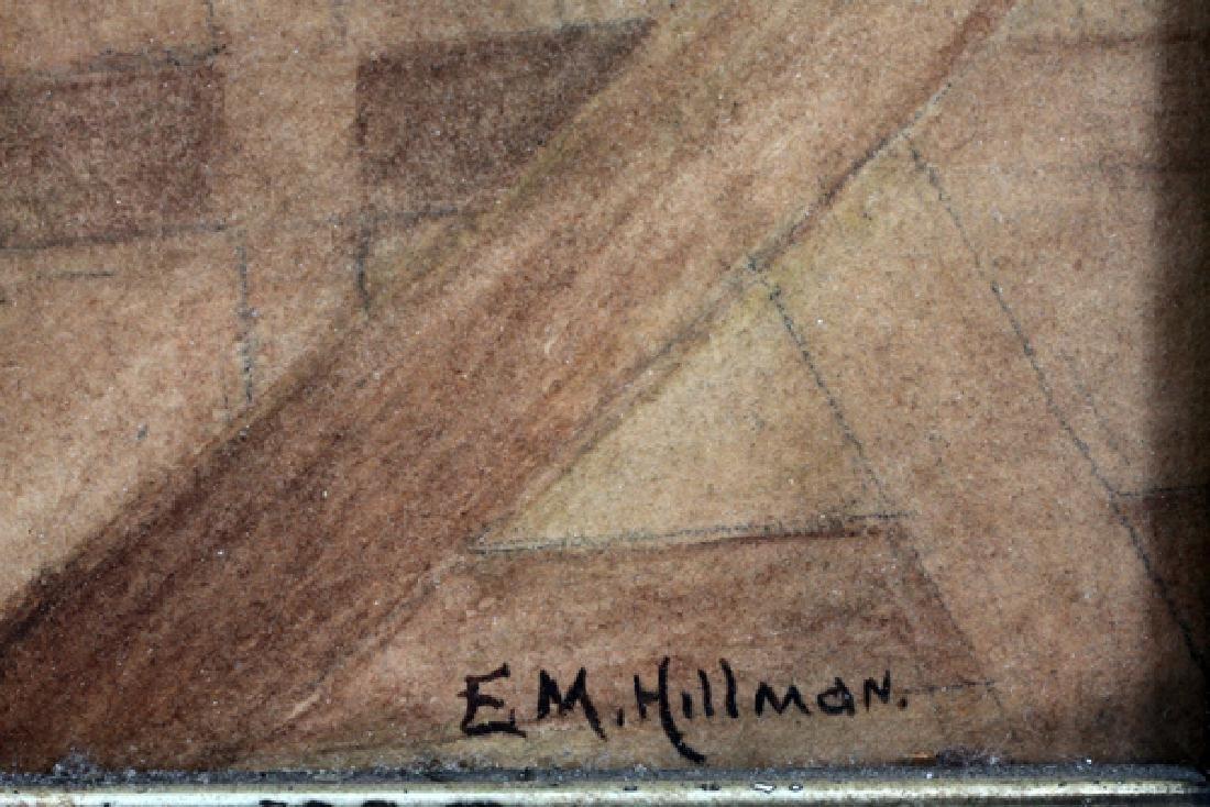 E. M. HILLMAN WATERCOLOR ON PAPER - 3