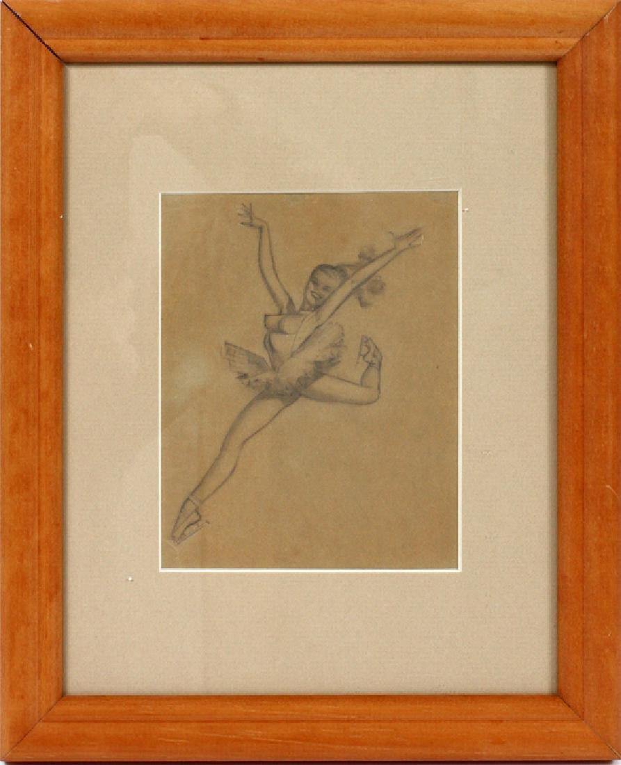 GEORGE PETTY PENCIL SKETCH C. 1940