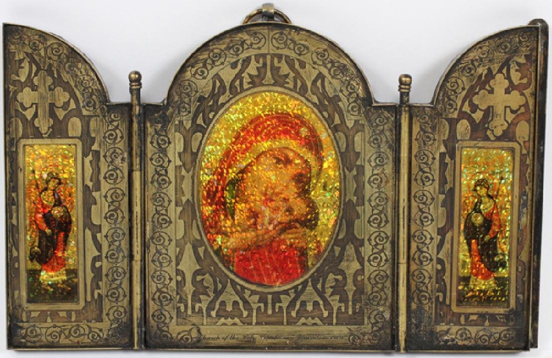 MIDDLE EASTERN BRASS TRYPTIC