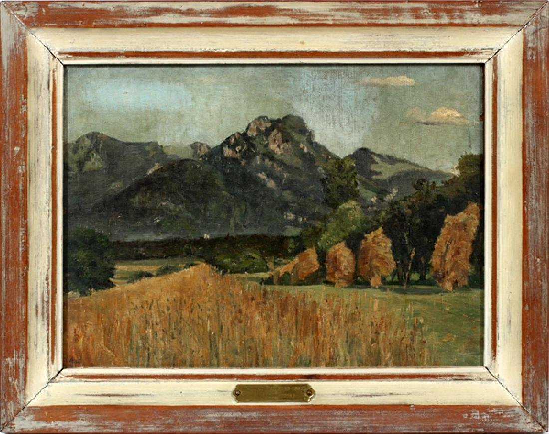 ATTRIBUTED TO ALFRED JUERGENS OIL ON MASONITE