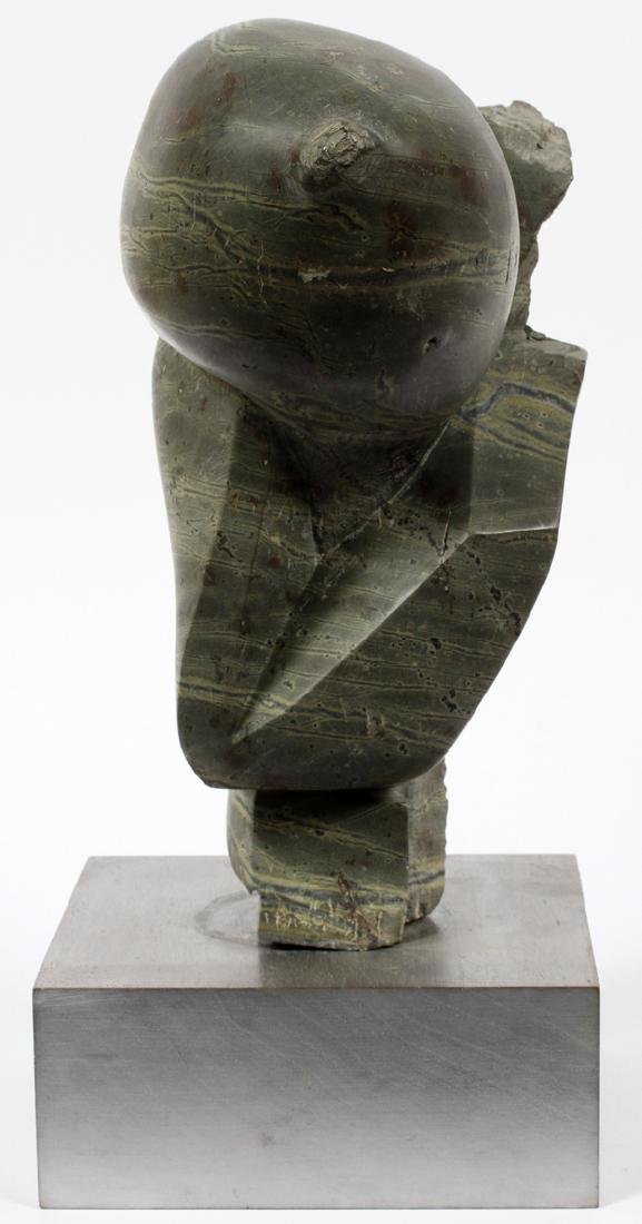 ATTRIBUTED TO BRYAN ROSS GREEN MARBLE SCULPTURE - 3