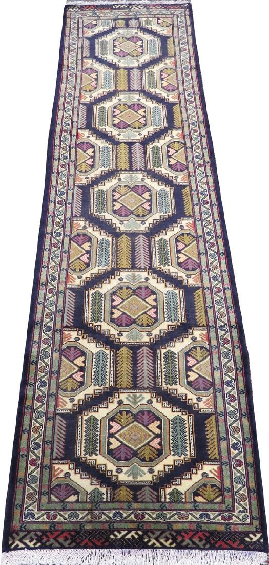 PERSIAN TURKOMAN WOOL RUNNER 1980/90