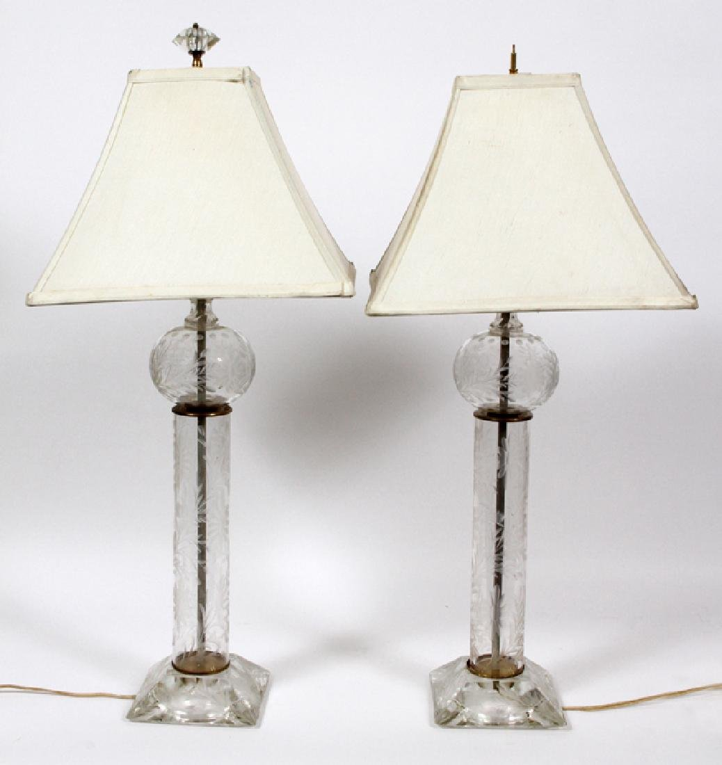 FOSTORIA CRYSTAL LAMPS