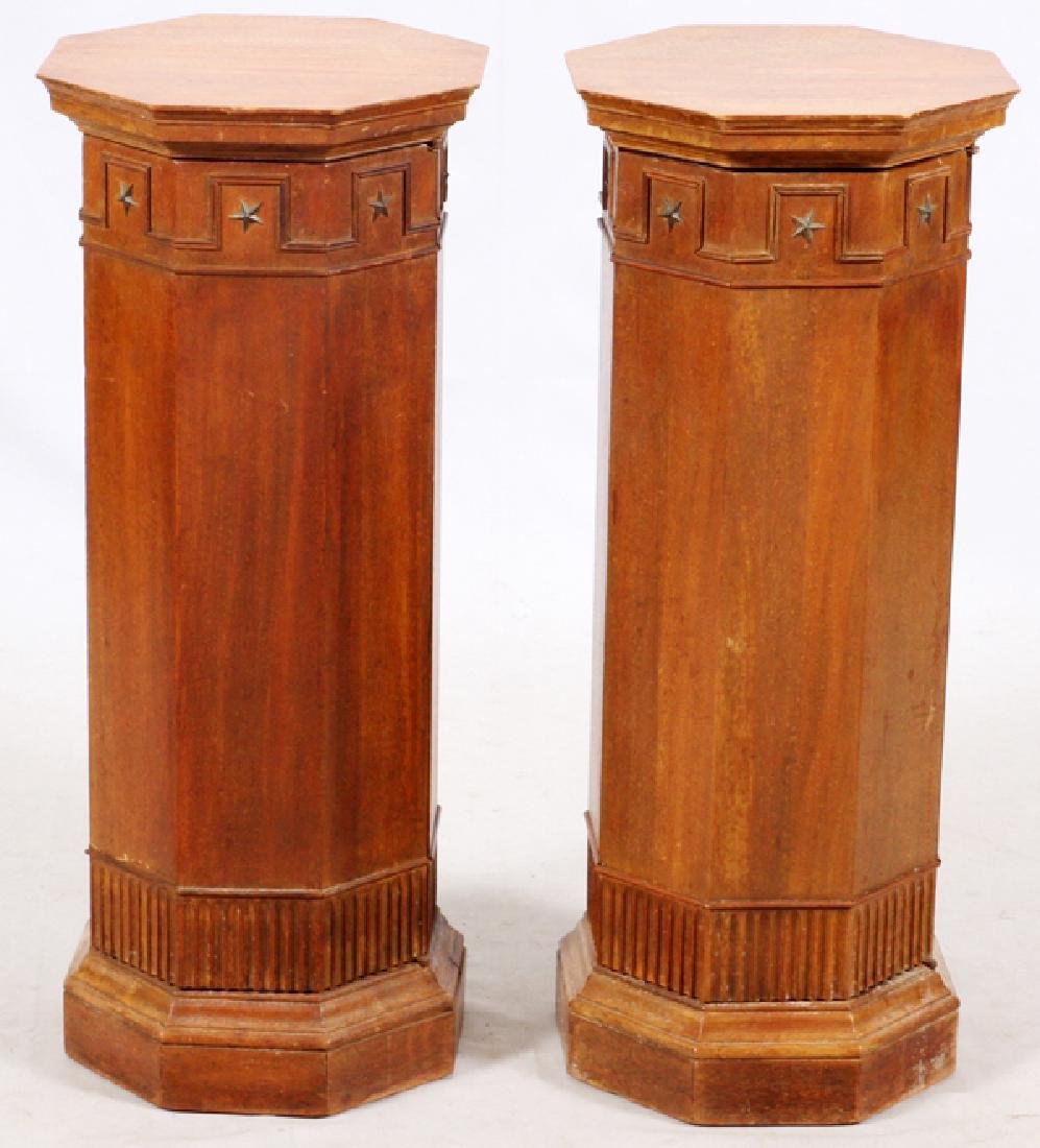ARCHITECTURAL WOOD COLUMNS PAIR