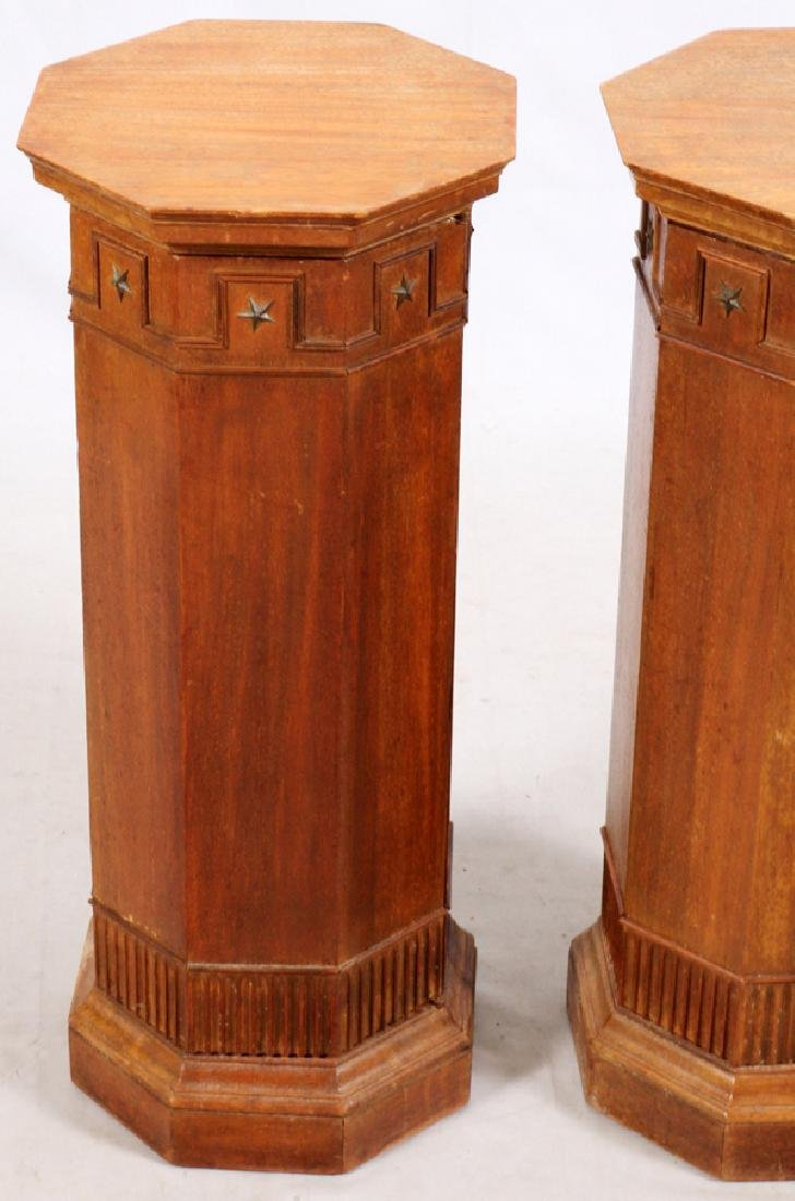 ARCHITECTURAL WOOD COLUMNS PAIR - 2