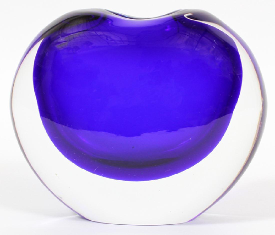 MURANO ART GLASS VASES SIGNED TWO